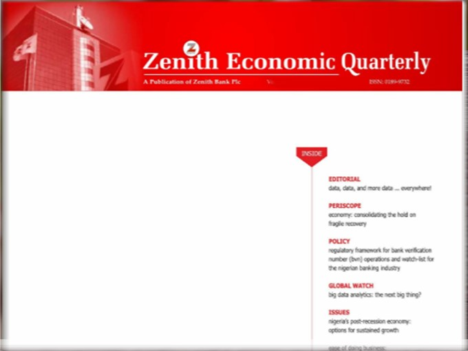 Zenith Economic Quartery Vol.14 No.1 January, 2018