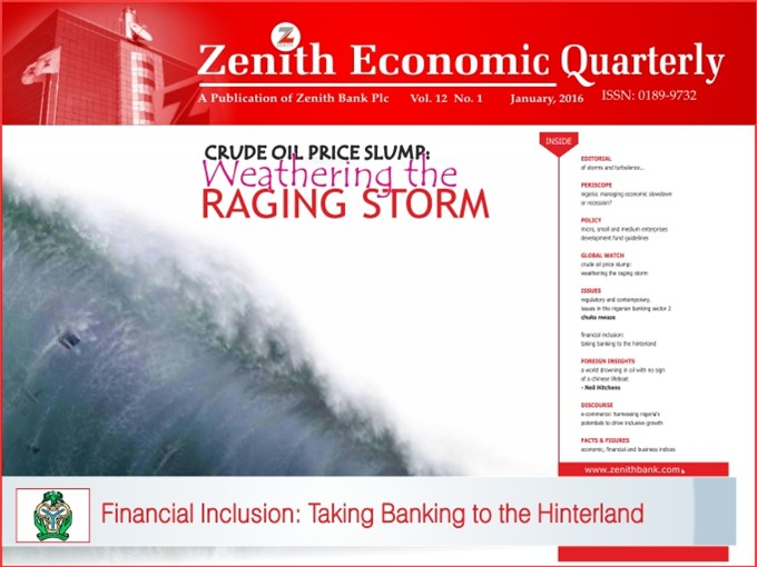 Zenith Economic Quarterly Vol.12 No.1 January, 2016