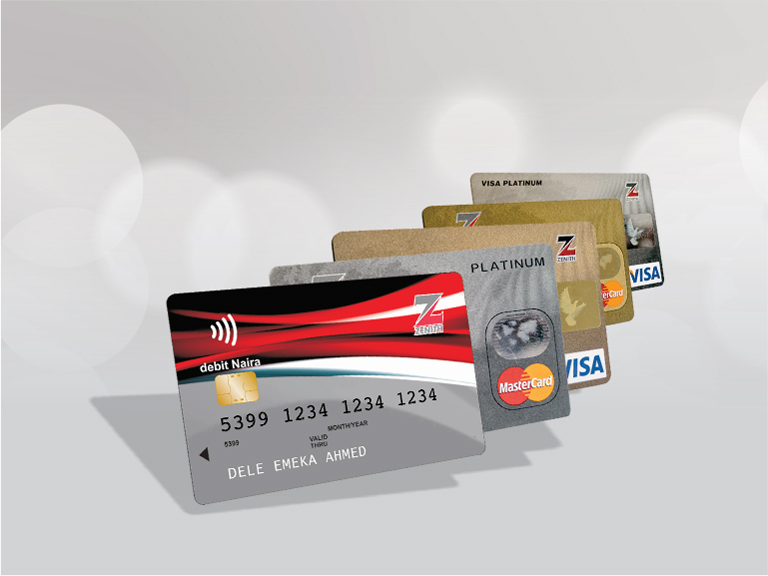 Credit Cards MasterCard Visa Only for the collection.